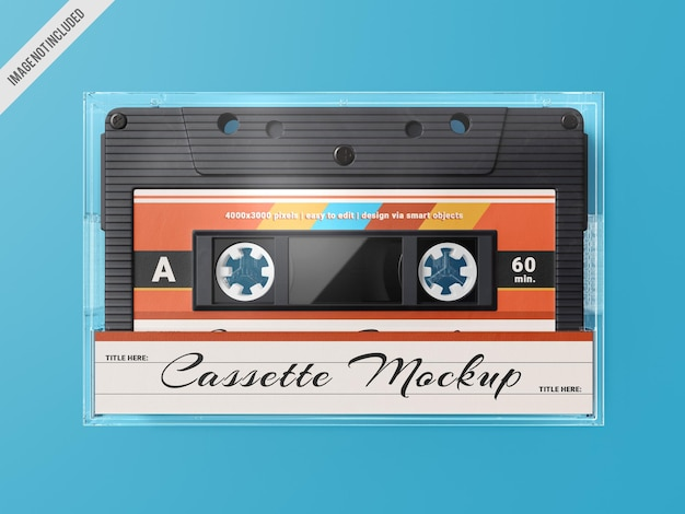 Retro kassettenband mockup vorlage