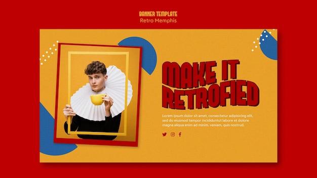 Retro memphis banner thema