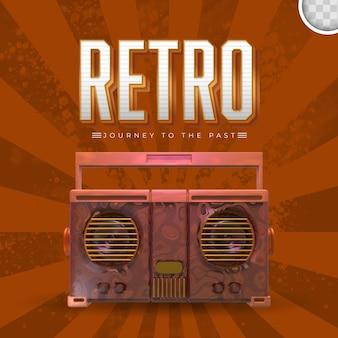 Retro-musik mit vintage-hintergrund