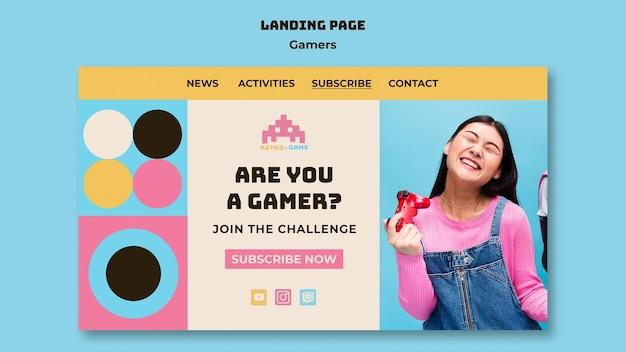 Retro-spiele-landingpage