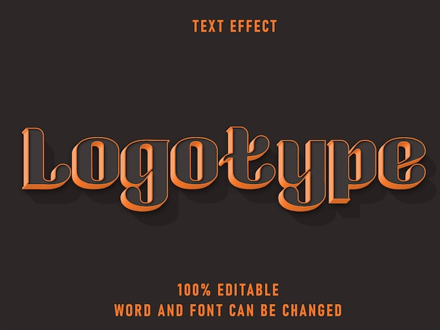 Retro-stil des logo-textes