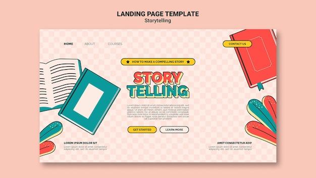 Retro storytelling landing page