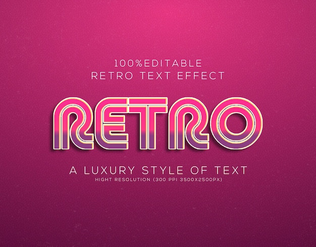 Retro-text-stil-effekt