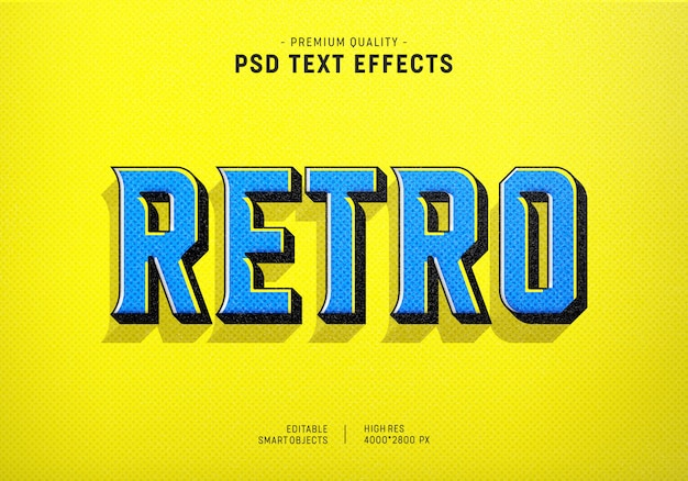 Retro text style effekt
