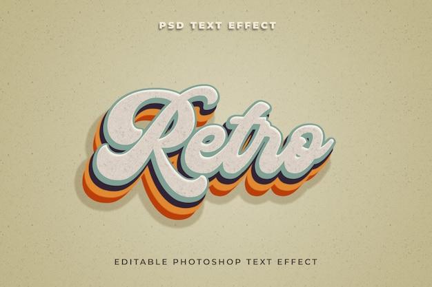 Retro-texteffektvorlage mit 3d-stil