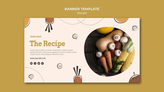 Rezept banner vorlage design