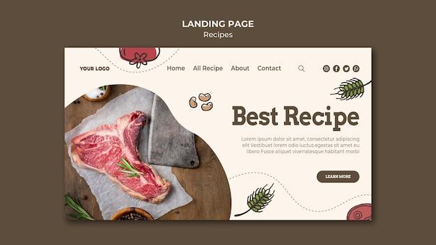 Rezepte landing page thema