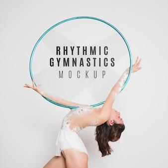 Rhythmisches gymnastikmodell