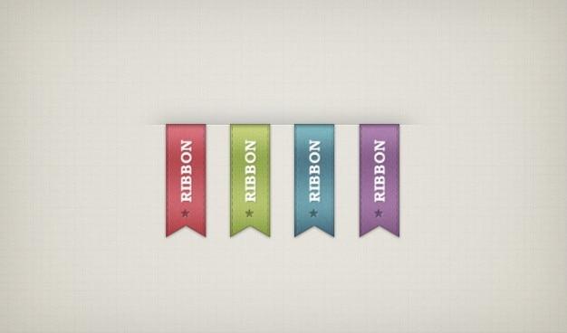 Ribbon design ribbon psd bändern