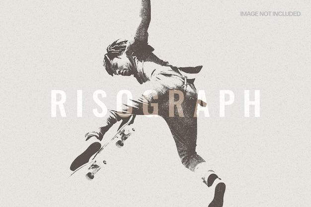 Risograph-textur-fotoeffekt