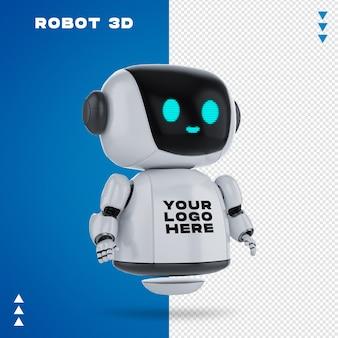 Roboter 3d-modell in 3d-rendering isoliert