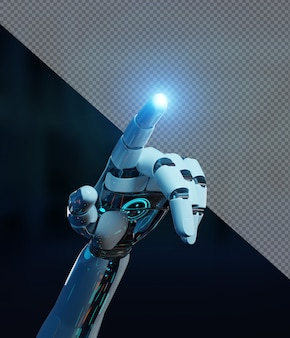 Roboterhand zeigefinger ausschneiden