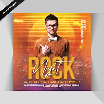 Rock night party flyer