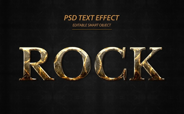 Rock text effekt design vorlage