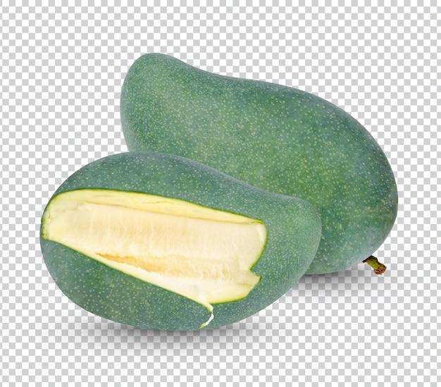 Rohe mango isoliert
