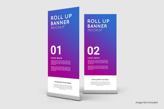 Roll up banner mockup isoliert