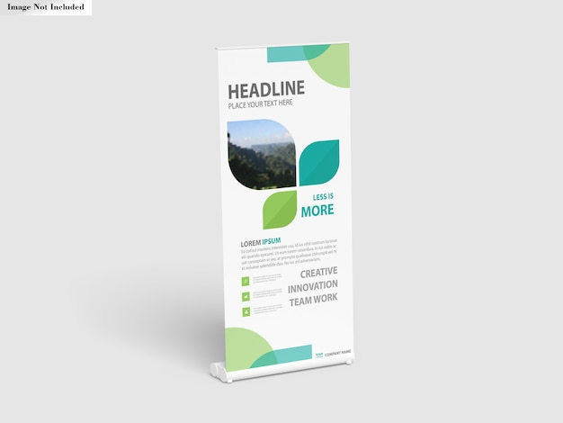 Roll up banner stand modell