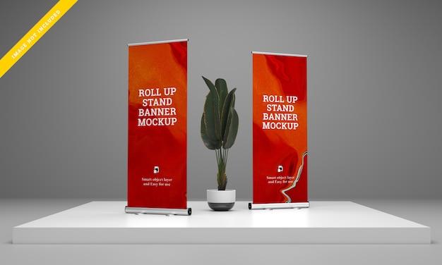 Roll up banner stehen für modell