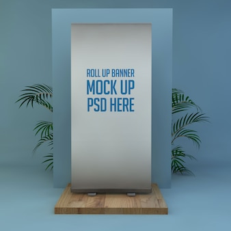 Roll-up stand mock up premium psd