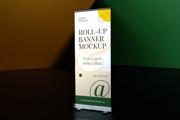 Roll-up stehendes banner-modell