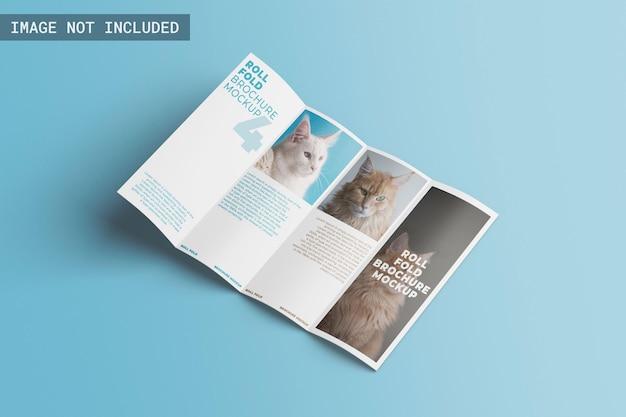 Rollfalz-broschürenmodell, rechtwinklige ansicht