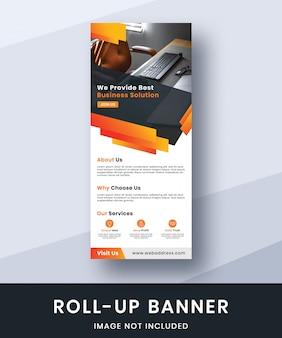 Rollup-banner-set-vorlage für unternehmen