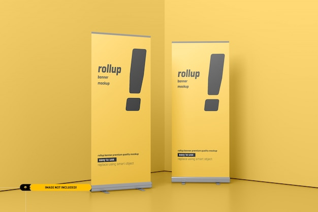 Rollup oder x-banner mockup