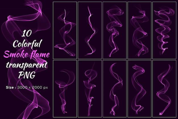 Rosa farbe rauchflamme transparente sammlung