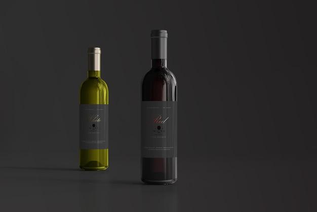 Rot- und weißweinflaschenmodell