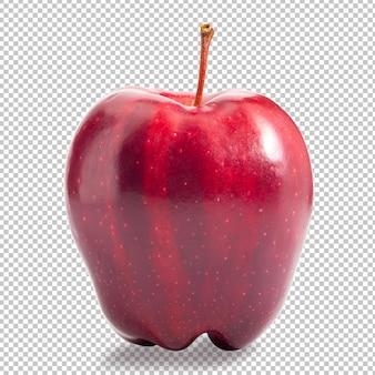 Rote apfelfrucht isoliert