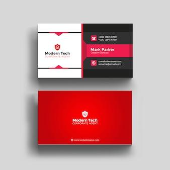 Rote berufsvisitenkarte