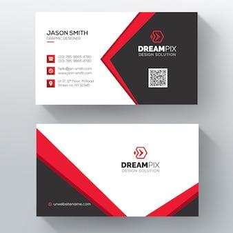 Rote elegante unternehmenskarte