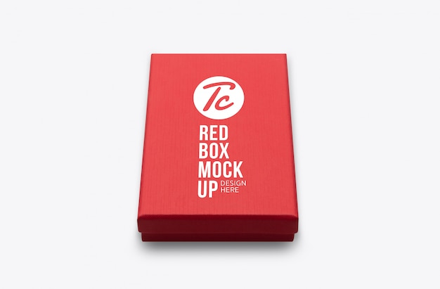 Rote geschenkbox-modellvorlage für ihr design