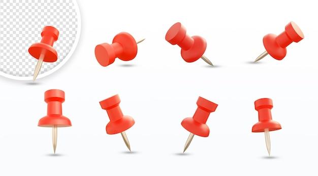 Rote papiernadeln set