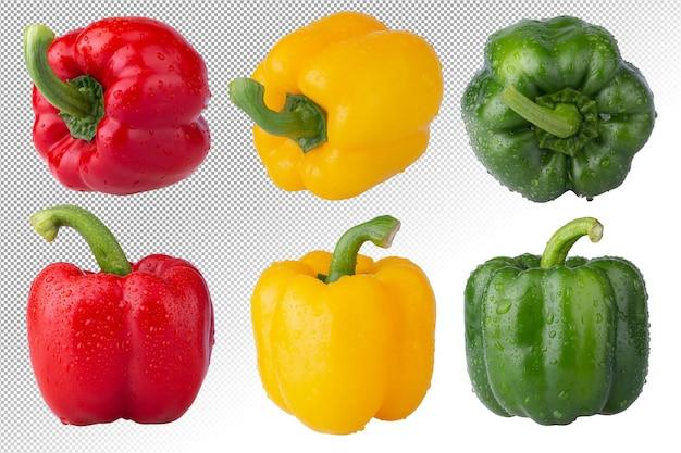 Rote paprika grüne paprika und gelbe paprika