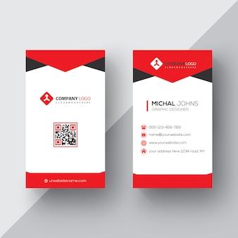 Rote und schwarze visitenkarte psd