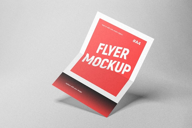 Rotes flyer-modell