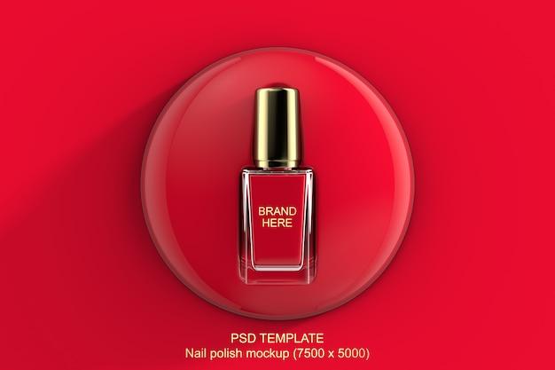 Rotes oder rosa modell des nagellacks 3d