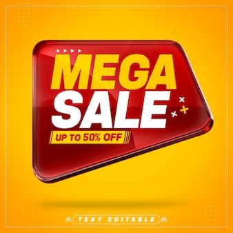 Rotes super sale 3d-banner