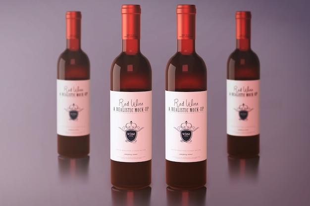 Rotwein-flaschen-modell