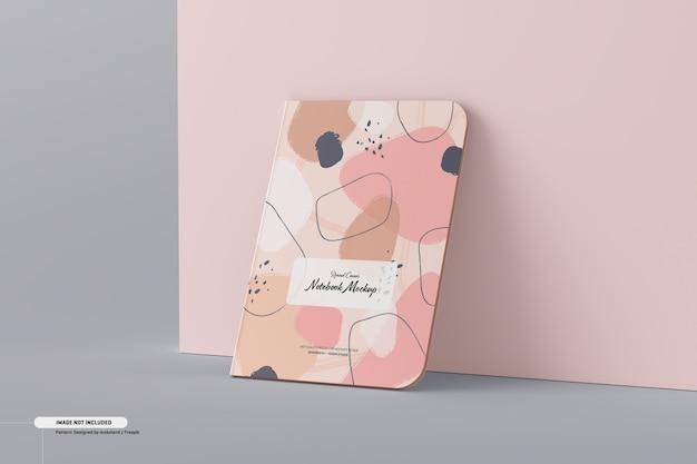 Round corner notebook mockup