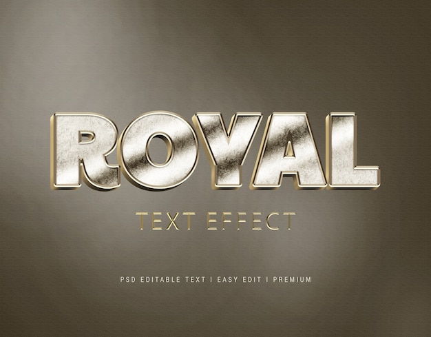 Royal text effect mockup
