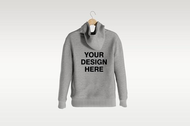Rückansicht hoodie mockup design isoliert isoliert
