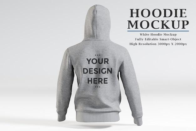 Rückansicht hoodie modell isoliert