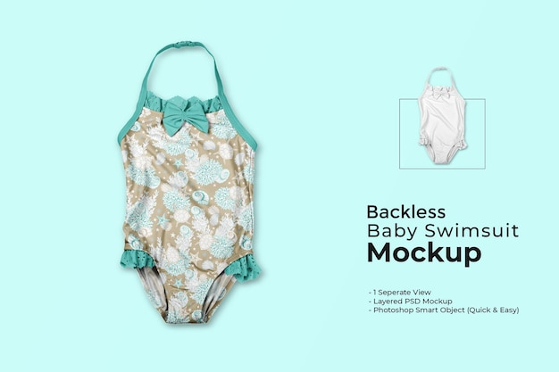 Rückenfreies babybadeanzugmodell