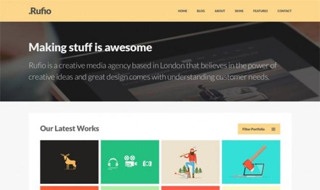 Rufio homepage psd