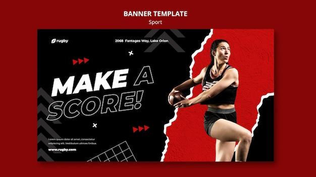 Rugby-banner-vorlage spielen