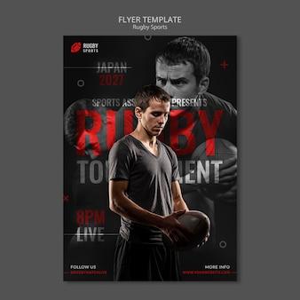 Rugby-flyer-vorlage spielen