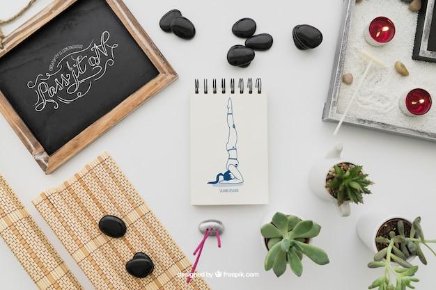 Ruhige yoga-dekoration