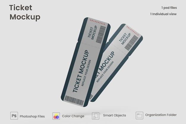 Runde ecke ticket-modell kostenlose psd